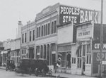 The original Peoples Bank branch, which opened on Lynden's Front Street in 1921